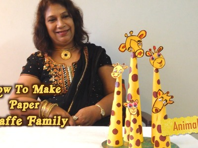 How To Make Paper Giraffe Family | Animal Special