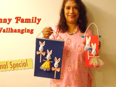 How to Make Plastic Spoon Bunny Wallhanging | Animal Special