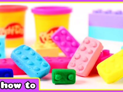 How To Make Play Doh Lego Bricks | Play Doh Lego Surprise by HooplaKidz How To