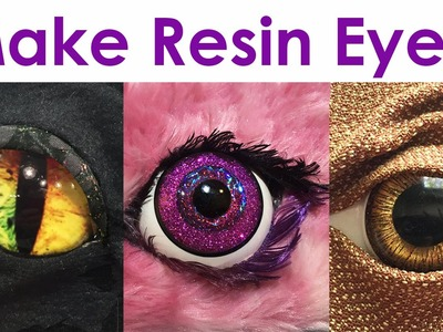 How-To Make Realistic + Fantasy Resin Eyes for jewelry, costumes, toys, decor