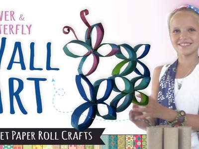 How to Make Wall Art using Toilet Paper Rolls | DIY Room Decor