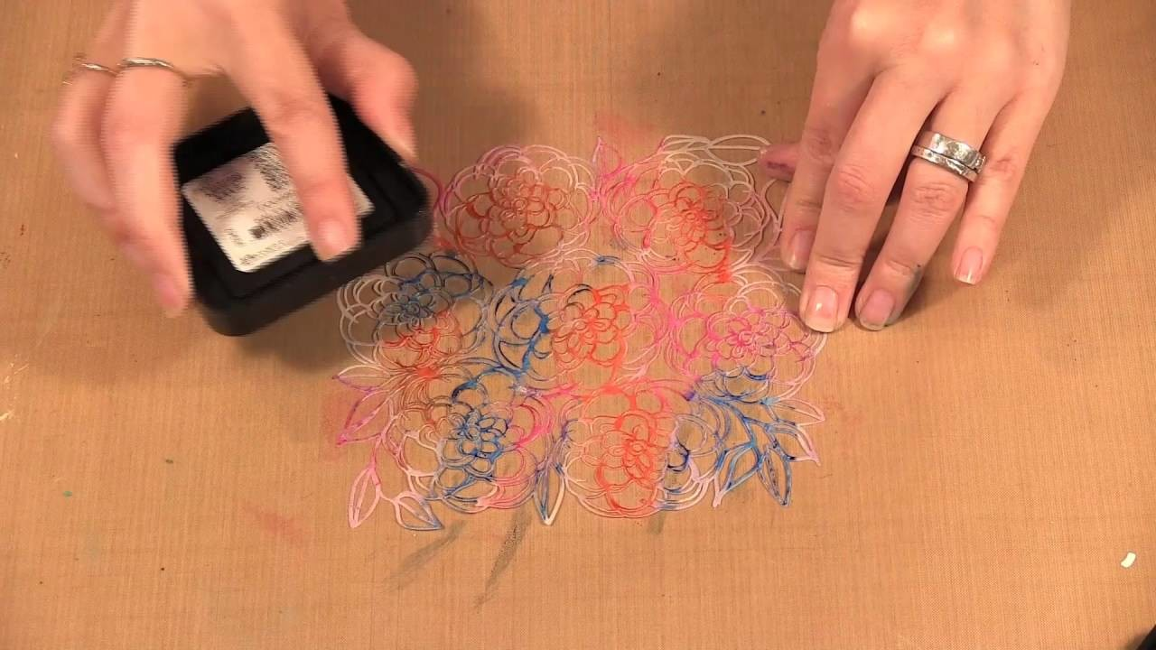How to Monoprint with Stencils