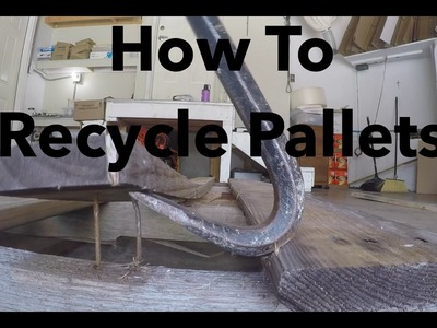 How to RECLAIM PALLET WOOD with a Table Saw
