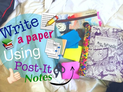 How to write a paper with Post-it or Sticky Notes. Tutorial + Study Hacks