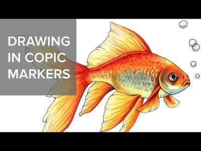 Как рисовать маркерами Copic. How to draw in Copic markers #2