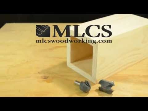 MLCS Woodworking Rabbeting Miter Joint  2pc Router Bit Set  How to demo