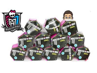 MONSTER HIGH MINIS WITH CODES OPENING   HOW TO USE THE CODES ON THE BLIND BOXES