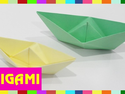 Origami Boat - How To Fold Boat  (Kasumi paper)