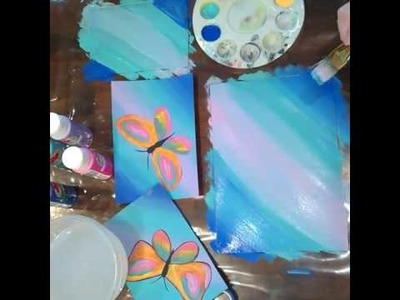 Paint Night how to paint a butterfly art project Fun paint night how to paint