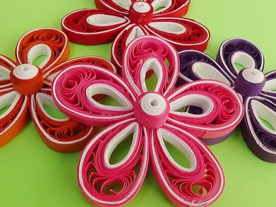 Paper Quilling  |How to make a quilled Malaysian flowers