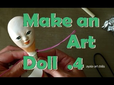 PaperClay Art Doll. How to make the body. Fairy Queen 04