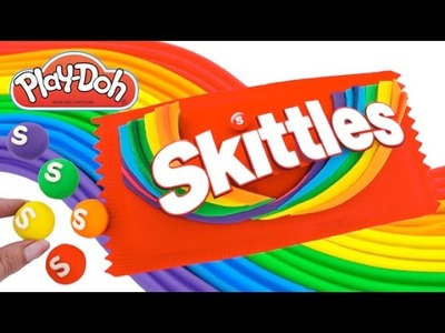 Play-Doh How to Make Giant Rainbow Skittles * Play Dough Art * Creative For Kids * RainbowLearning