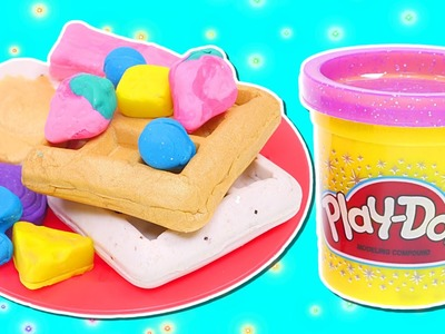 Play Doh Sparkle Breakfast Food | How To Make Fun Playdough Sparkle Breakfast Food with DCTC