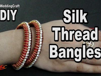 Silk Thread Bangles Set | Return Gift Idea | How to make  Jewelry | JK Wedding Craft 100