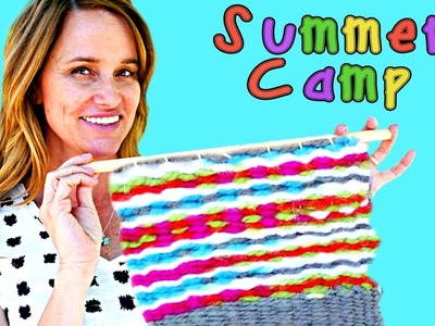 Summer Camp How To Make a Wall Hanging with a Tabletop Loom   Crafts with Amy Jo on DCTC