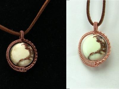 Begginer Wire Wrapped Pendant Tutorial Gemstone Bead