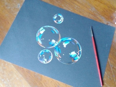 Bubbles Painting- how to paint bubbles tutorial