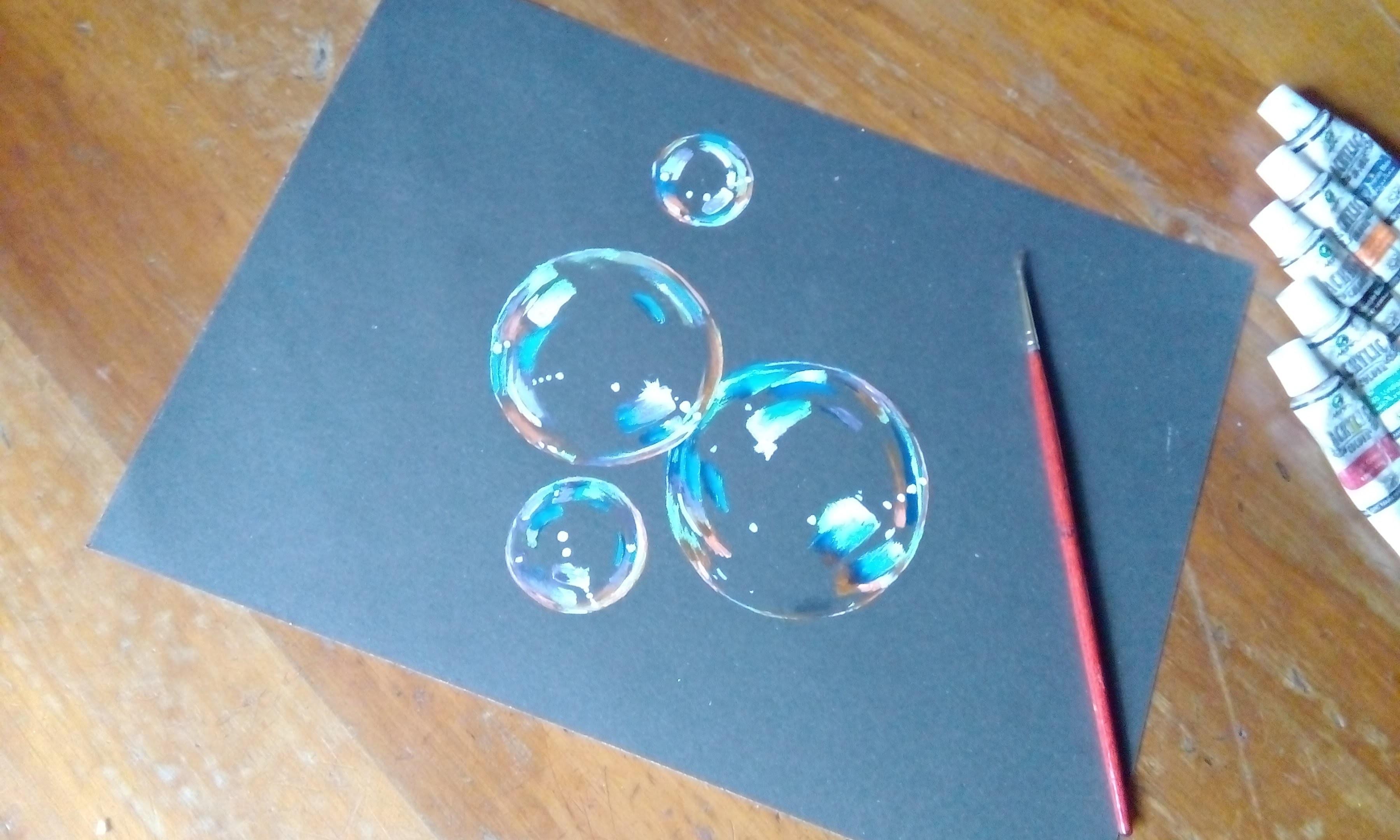 пузыри на открытке как сделать несмотря реализацию