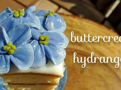 Buttercream hydrangeas - how to pipe hydrangea flowers