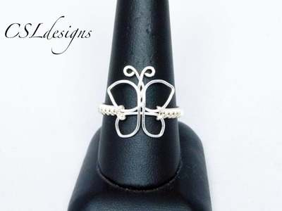 Butterfly wirework ring