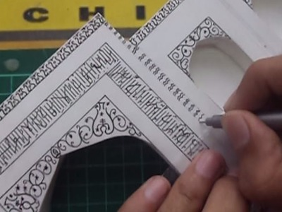 CALLIGRAPHY | How to make a model of Taj Mahal | Architecture Model Making