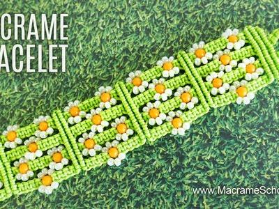 Easy Macramé Flower Bracelet - Meadow of Daisies (Teaser)