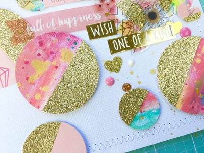 Grab 5 Scrapbook Process Video ~ Hello February + + + Inkie Quill