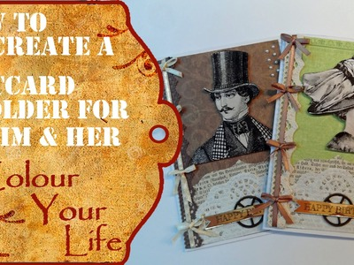 How to create a historic gift card holder for Him & Her