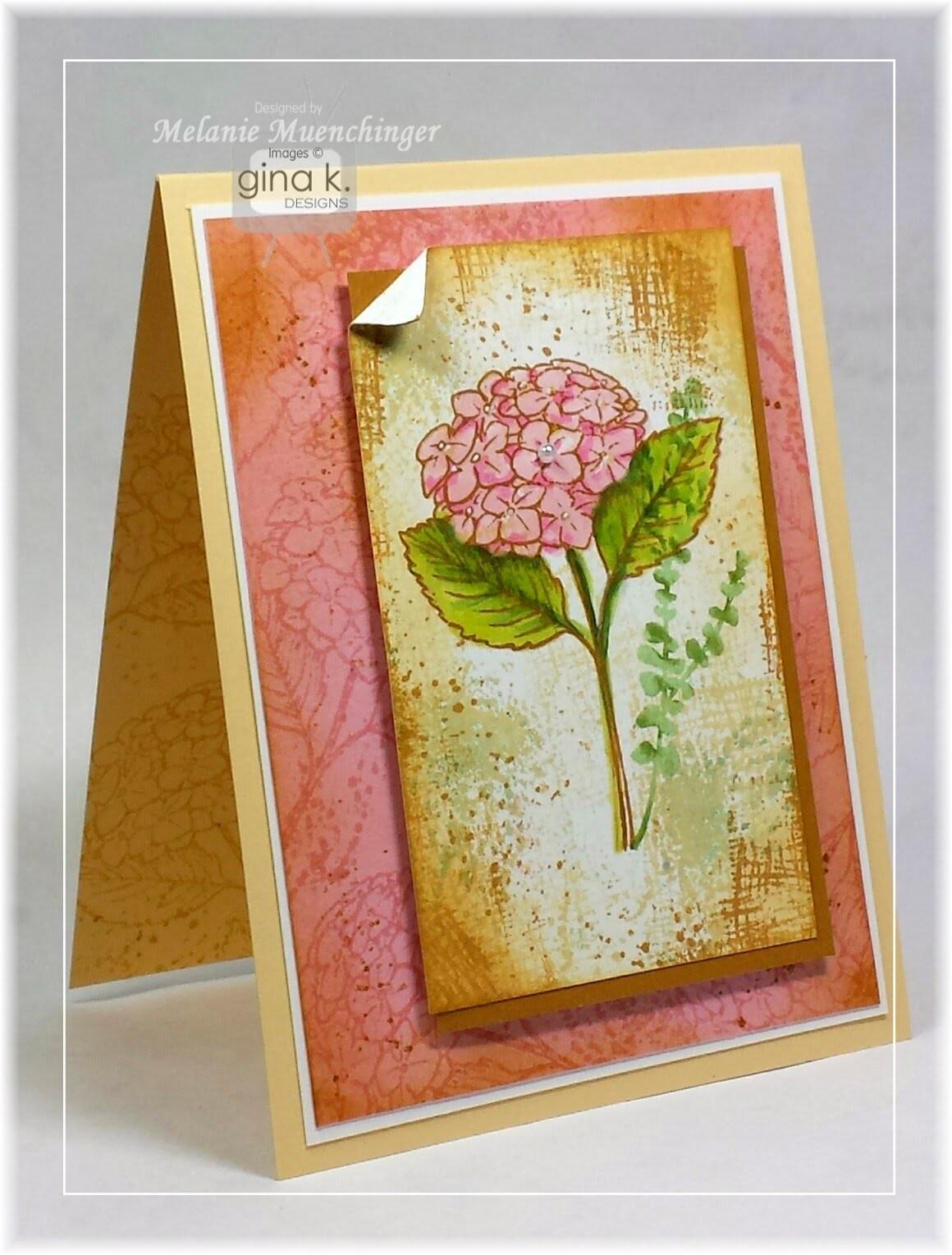 How to Create Textured Mats: Canvas Hydrangea