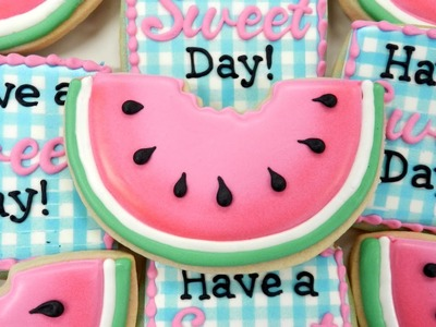 How to Decorate a Watermelon Cookie