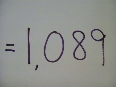 "How to do a Simple Math Trick ""The Answer is Always 1089"" - Step by Step Instructions-Tutorial"