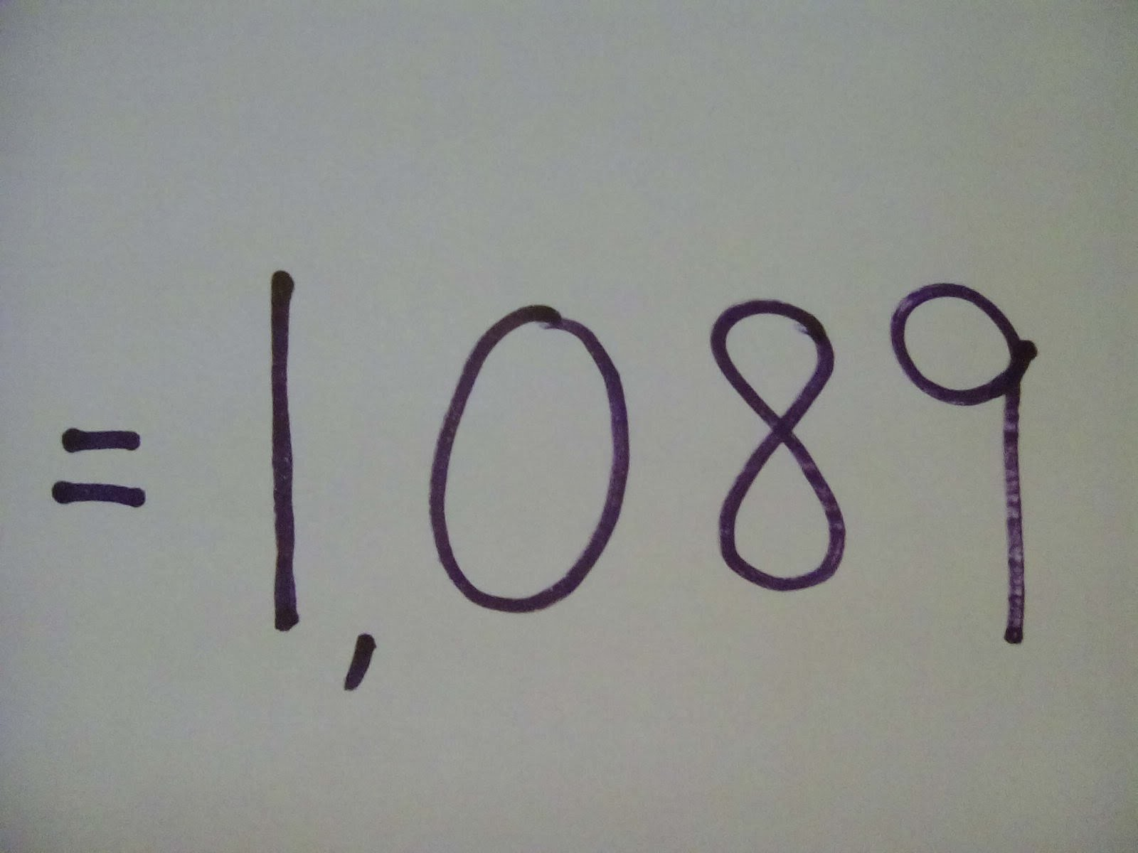 """How to do a Simple Math Trick """"The Answer is Always 1089"""" - Step by Step Instructions-Tutorial"""