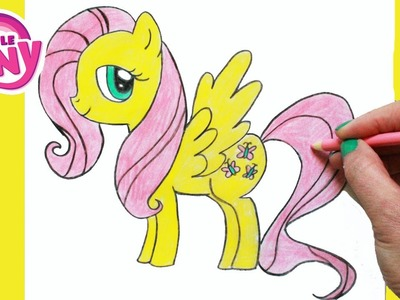 How to Draw My Little Pony FLUTTERSHY Character Step By Step Easy Equestria MLP | Toy Caboodle