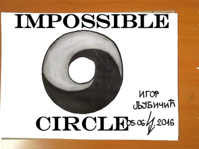 How to Draw The IMPOSSIBLE CIRCLE | Easy - Optical 3D Illusion on paper with pencil | Cool Stuff