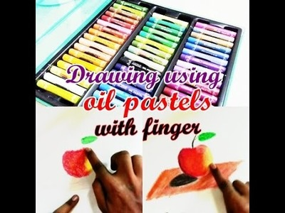 How to draw using oil pastels for beginners & blending techniques with finger