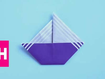 How To Fold a Sailboat Napkin with @OrigamiTree | GH