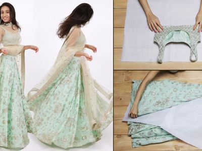 How To Fold Your Lehenga Perfectly | Glamrs.com
