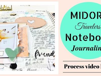 How to Journal.Art Journal - Midori Notebook - process video no.7