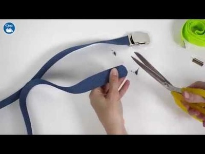 How to make a belt with the Dritz Sewing Slide Buckle Set