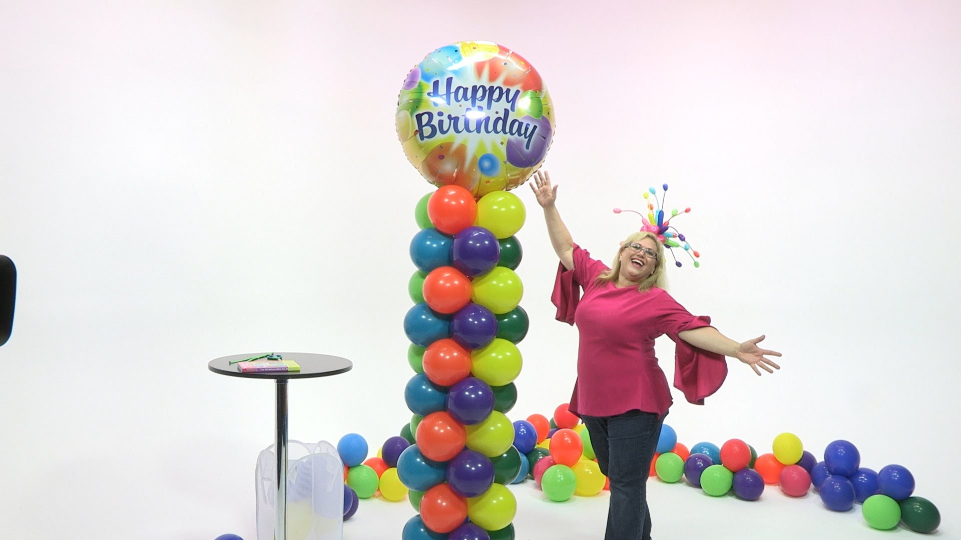 How To Make a Birthday Color Extravaganza Balloon Tower