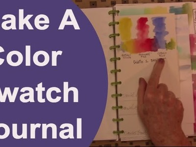 How to Make a Color Swatch Journal