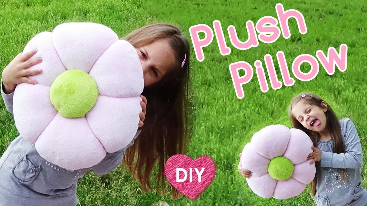 How to make a Plush Pillow. Easy DIY room decor.