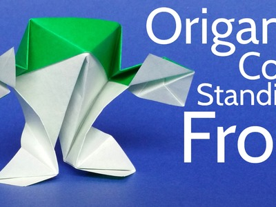 How to make an Origami Standing Frog