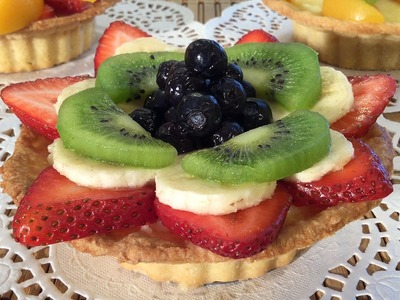 How To Make Fruit Tart With Homemade Pie Crust-Dessert Recipes