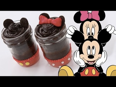 How To Make Mickey & Minnie Cake Jars | Dishes by Disney
