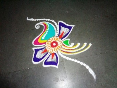 How to make new fancy rangoli design