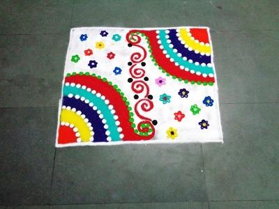 How to make new fancy square rangoli design