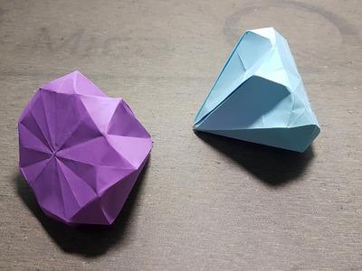 How to Make New Paper Diamond Origami art