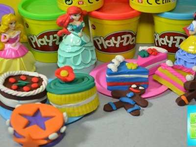 How to make Play Doh Birthday cake Cookie Cake Party Dessert playdoug Cupcake funny juguetes