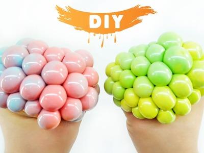 How to Make Squishy Mesh Slime Ball! DIY Two-tone Stress Ball!
